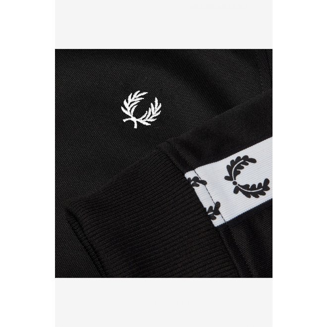 Taped Track Jacket in Black