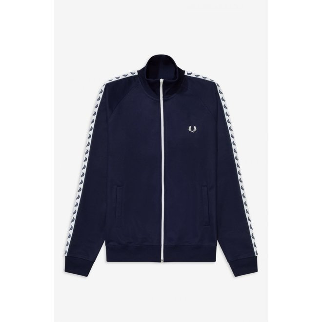 Taped Track Jacket in Carbon Blue