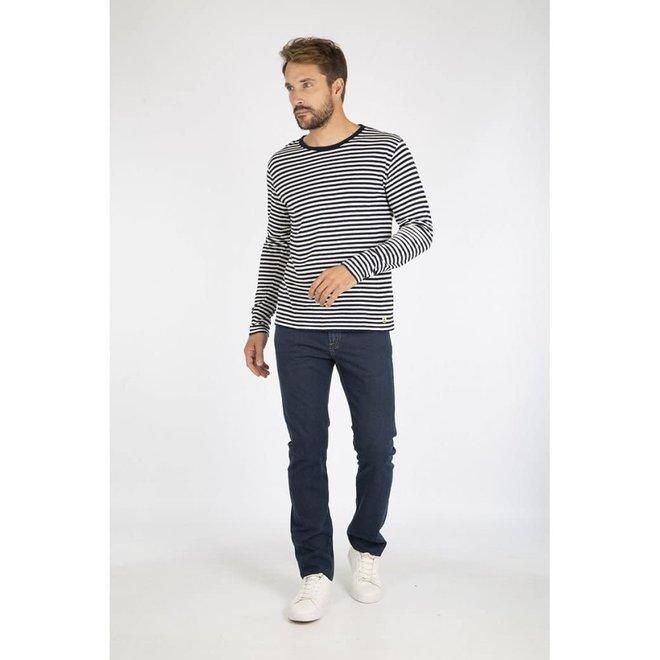Breton Heritage Long Sleeve T-Shirt in Navire/Nature