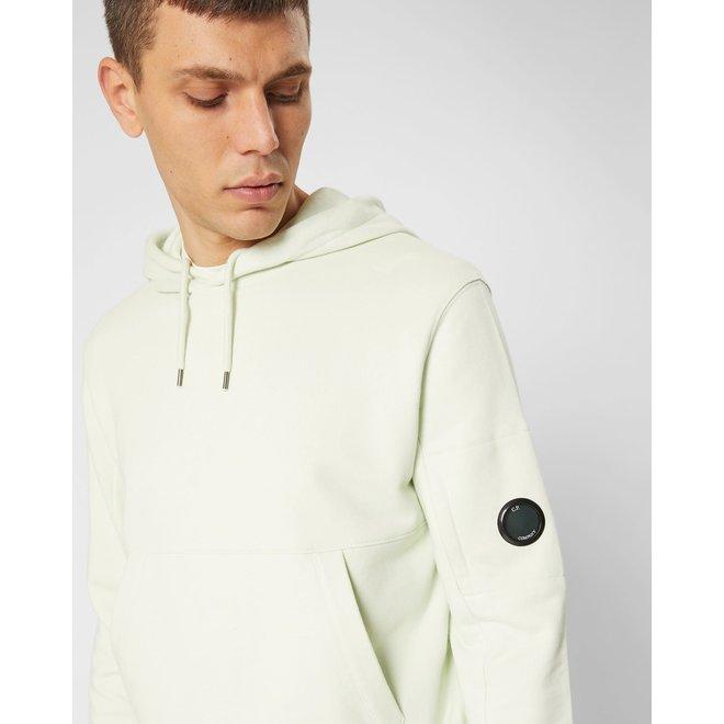 Diagonal Fleece Lens Hooded Sweater in Frost