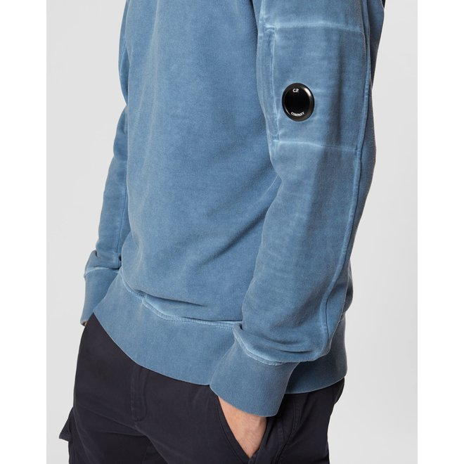 I.C.E. Lens Crew Sweater in BluePrint