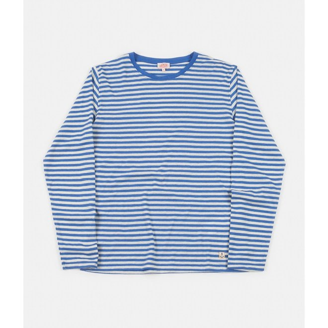 Breton Heritage Long Sleeve T-Shirt in Lapis/Nature