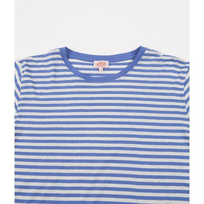 Breton Heritage Long Sleeve T-Shirt in Lapis/Nature