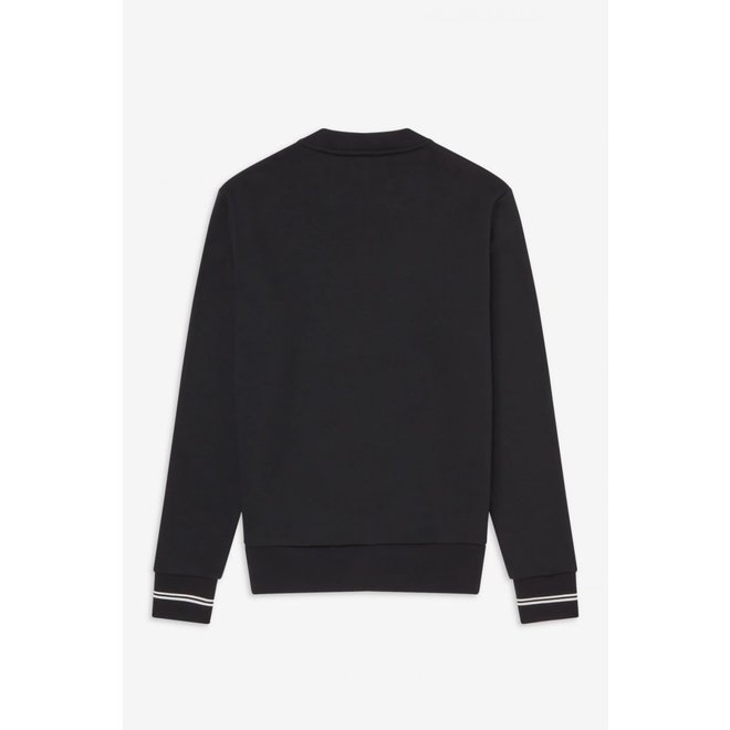 Crew Neck Sweatshirt in Black