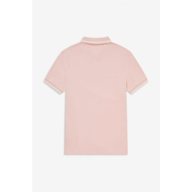 Twin Tipped Fred Perry Shirt in Pink/Snow White