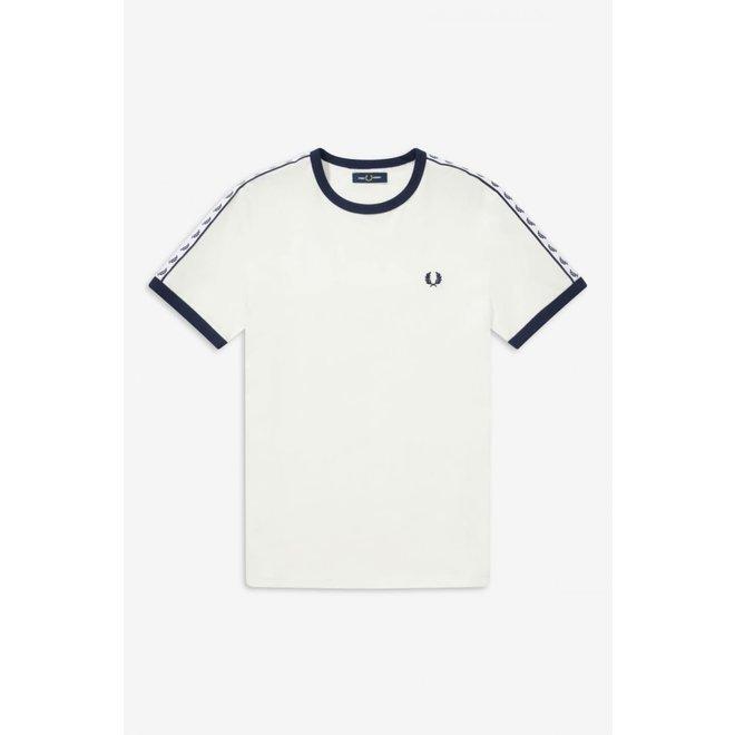 Taped Ringer T-Shirt in Snow White