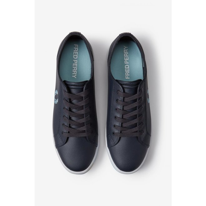 Kingston Leather Trainers in Navy