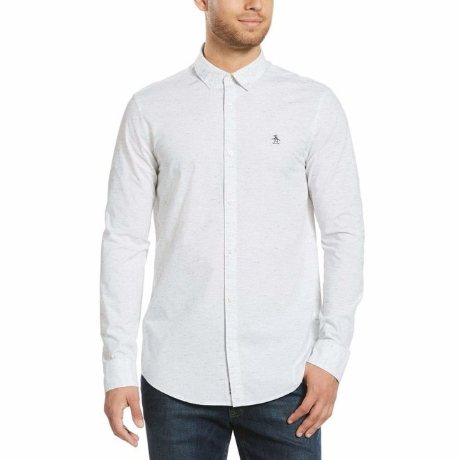 Poplin Shirt in Heather Rain