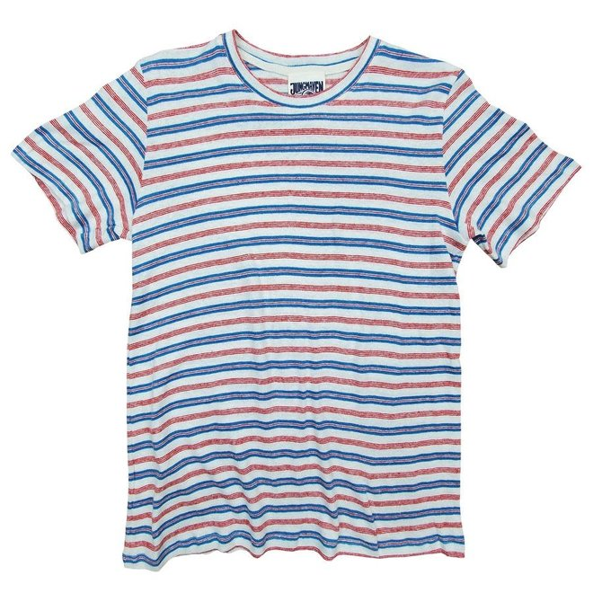 Stripe Jung Tee in White/Red/Blue