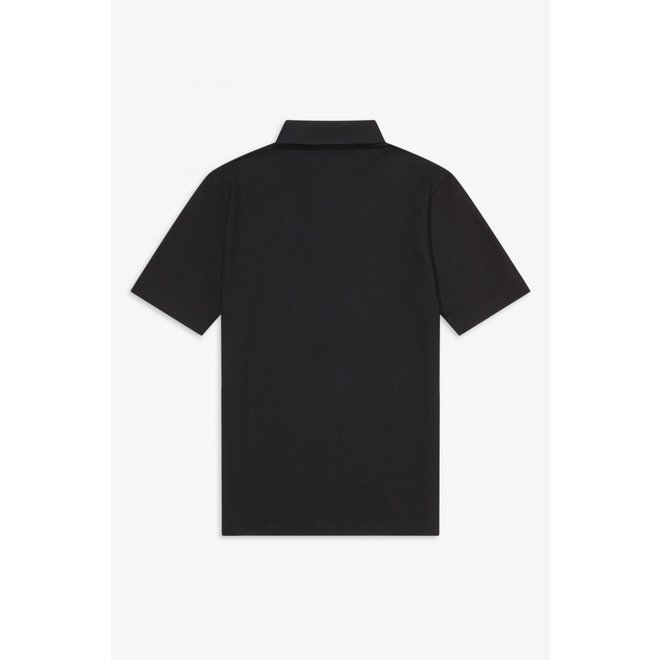 Button Down Polo in Black