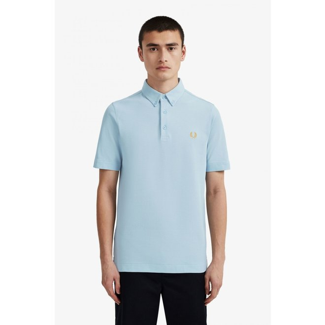 Button Down Polo in Ice