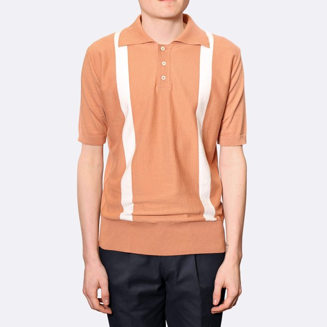 Cole Duo Polo Shirt in Toasted