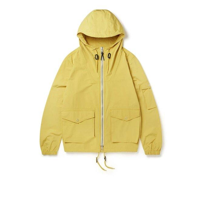 Drift Nylon Parka Jacket in Mustard Yellow