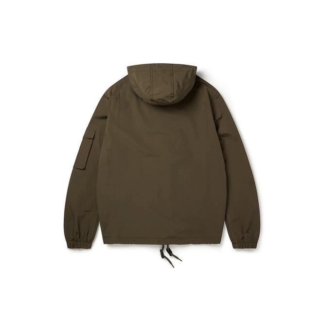 Drift Nylon Parka Jacket in Olive