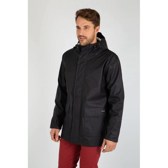Cire Penmarch Mixte Raincoat in Black