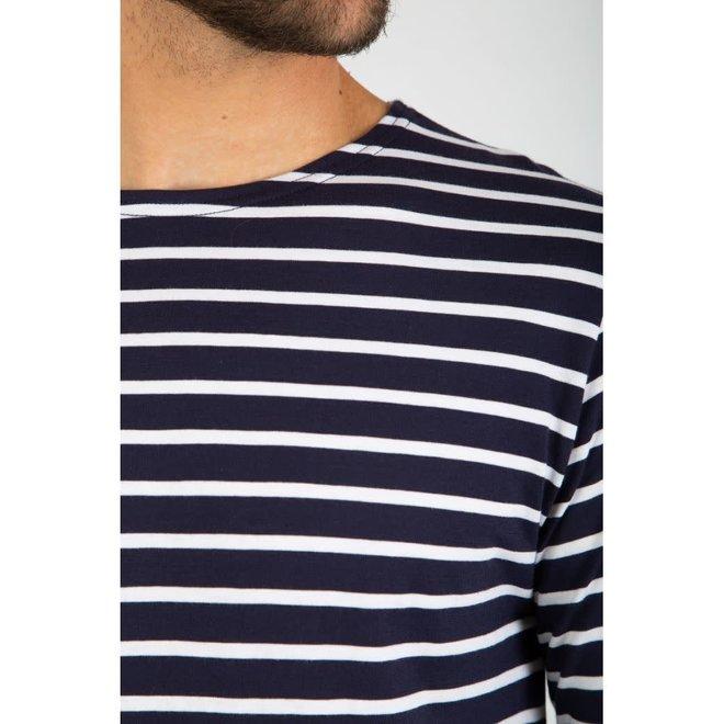 "Mariniere ""Plozevet"" Heritage Shirt in Navy/White"