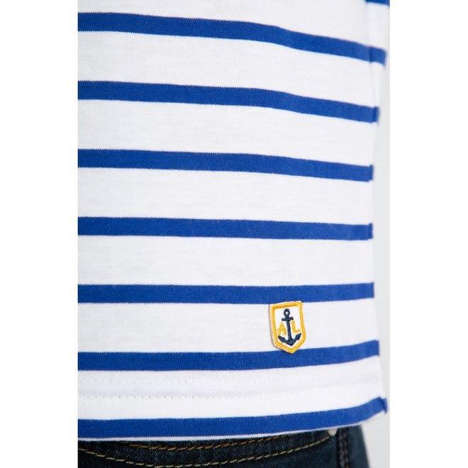 "Mariniere ""Plozevet"" Heritage Shirt in White/Blue"