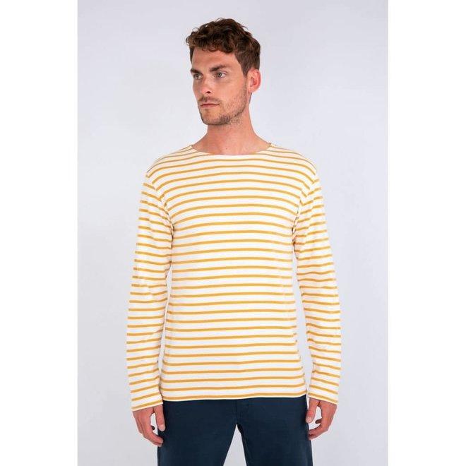 "Breton Heritage ""Houat"" Shirt in Milk/Quartz"