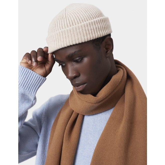 Merino Wool Beanie in Sahara Camel