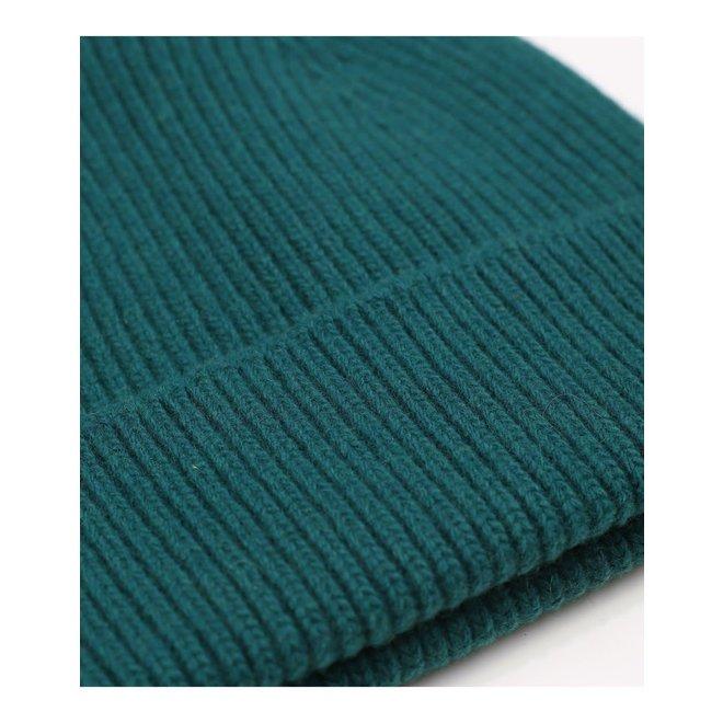 Merino Wool Beanie in Ocean Green
