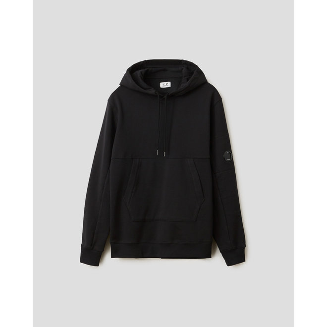 Garment Dyed Light Fleece Lens Sweater in Black