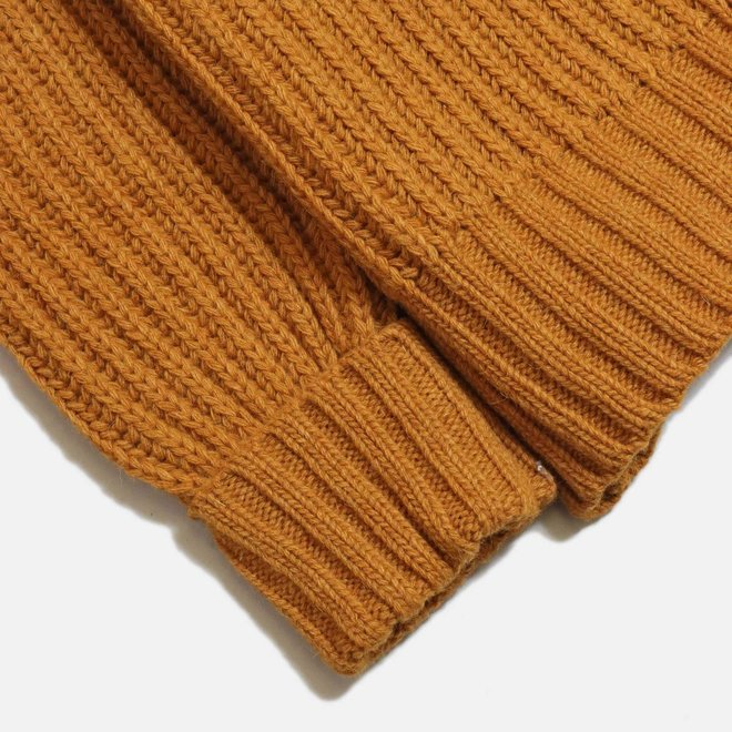 Tanner Ribbed Knit Jumper in Orange