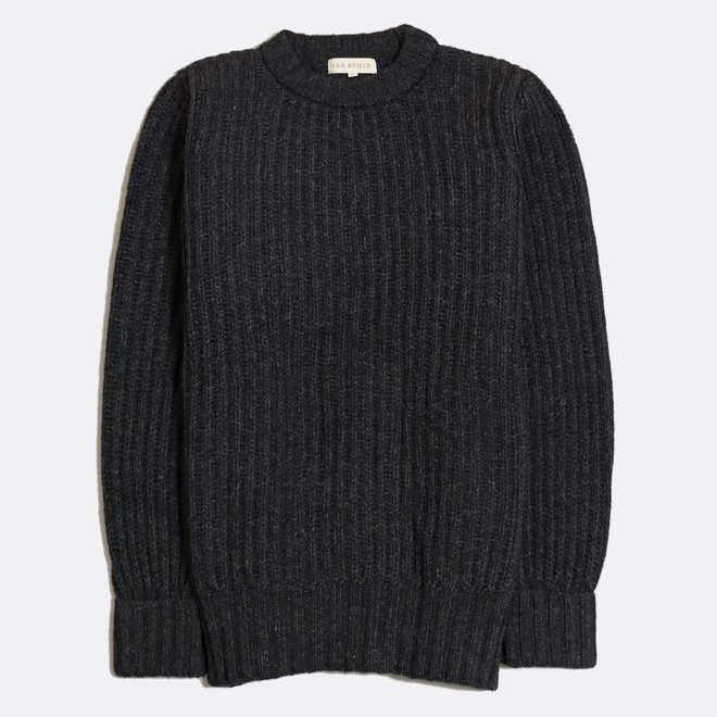 Tanner Ribbed Knit Jumper in Espresso Grey