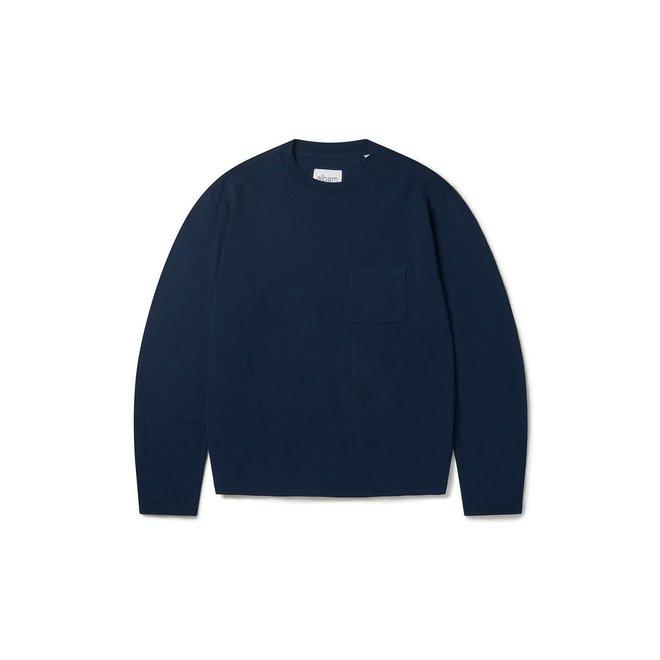 Workwear Long Sleeve T-Shirt in Navy