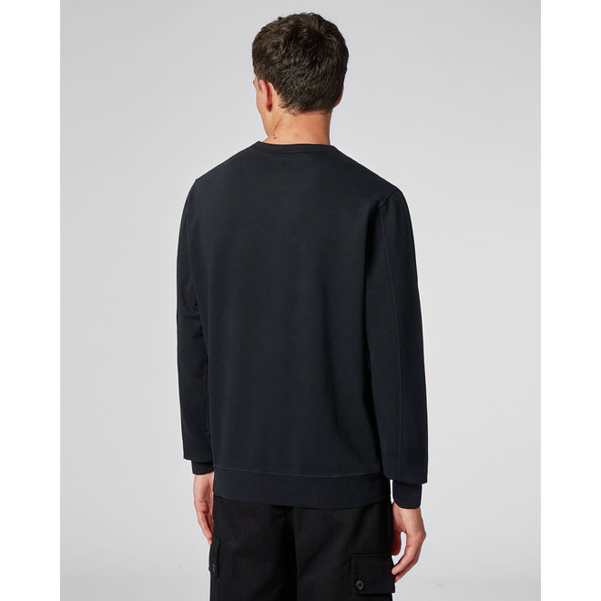 Garment Dyed Light Fleece Lens Crew Sweat in Ombre Blue