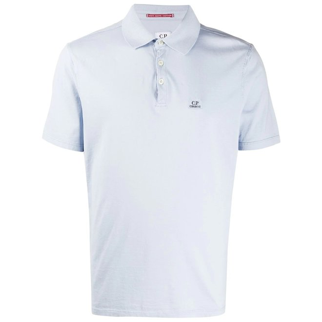 SS Polo Shirt Mako Jersey in Halogen Blue
