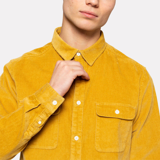 Corduroy Shirt in Khaki