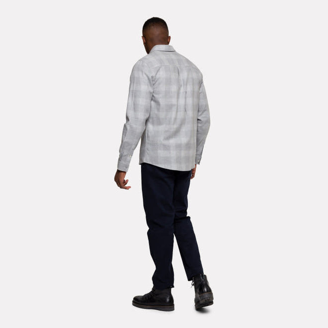 Check Button Down Shirt in Grey