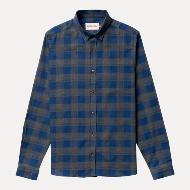 Check Button Down Shirt in Blue