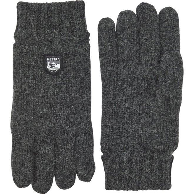 Basic Wool Glove in Charcoal