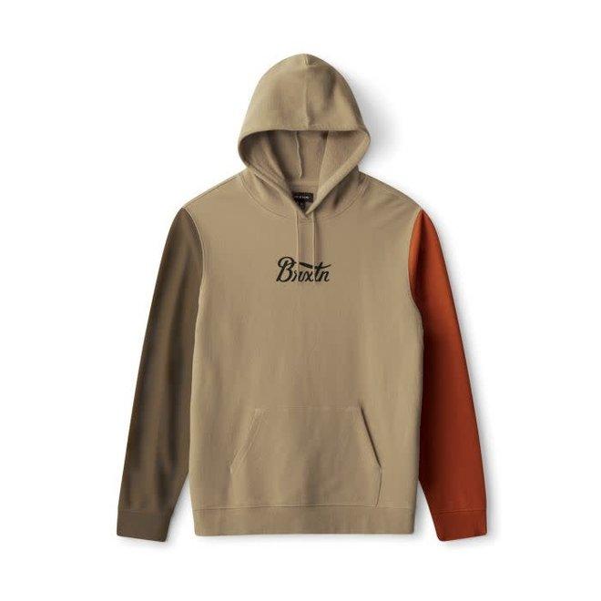 Stith Hooded Fleece in Gravel/Khaki/Amber