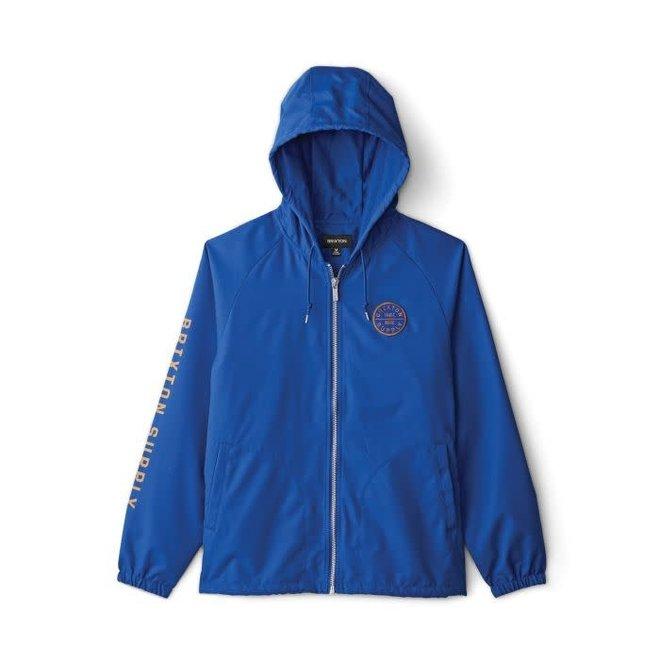 Claxton Oath Zip Hooded Jacket in Mineral Blue