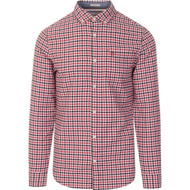 Small Check Shirt in Cardinal