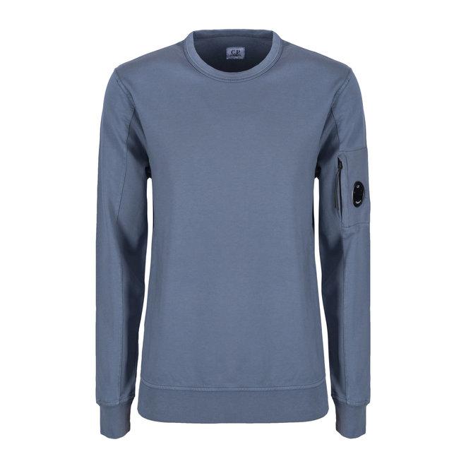 Garment Dyed Light Fleece Lens Crew Sweat in Ombre Blue