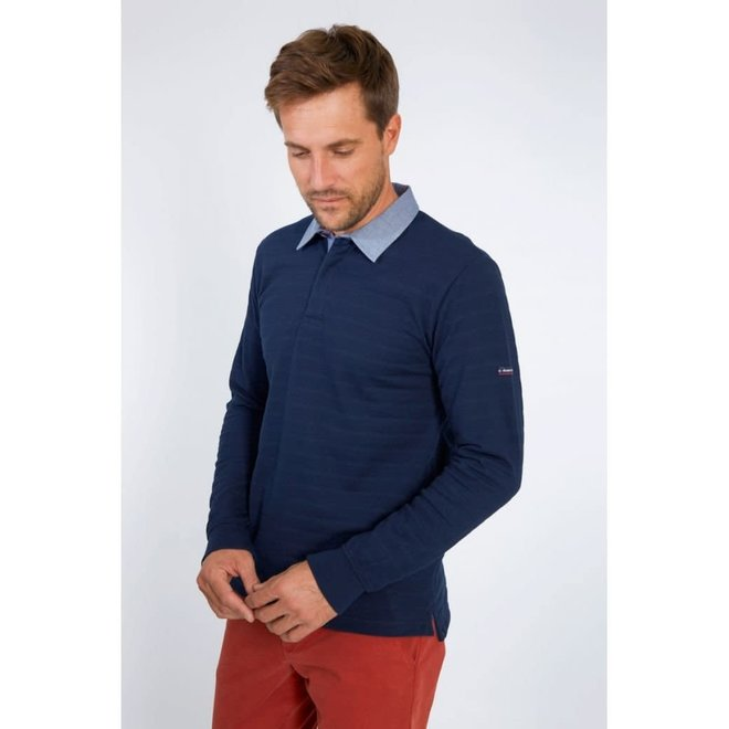 Carl ML Polo Shirt in Navy