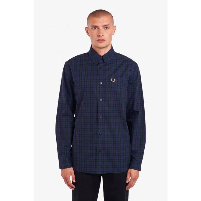 Winter Tartan Shirt in Carbon Blue