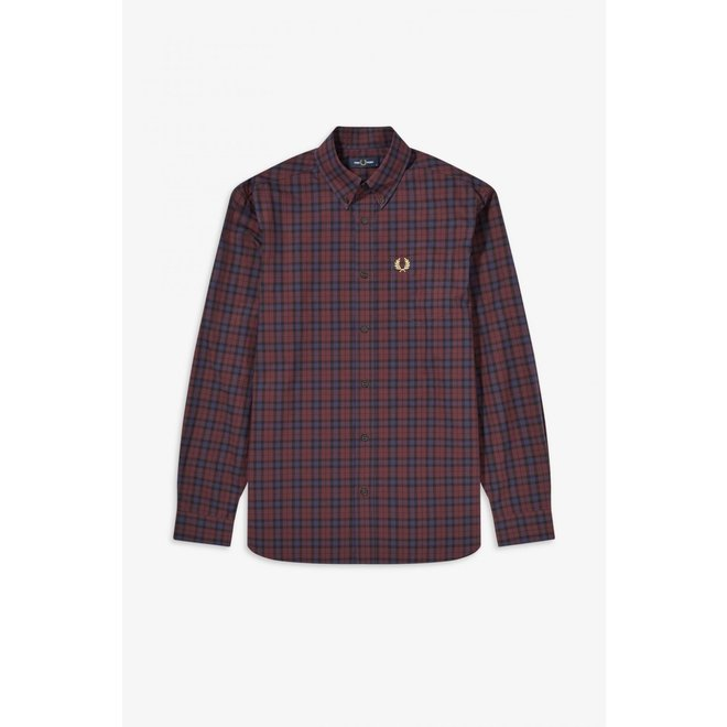 Winter Tartan Shirt in Mahogany