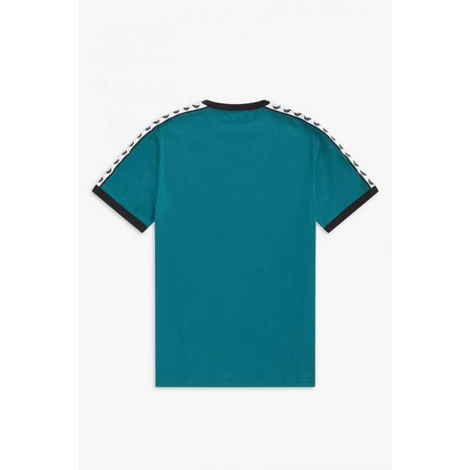 Taped Ringer T-Shirt in Light Petrol