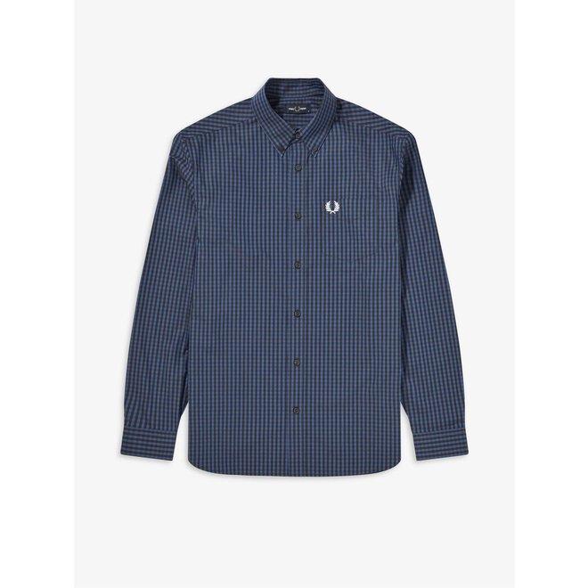 Four Colour Gingham Shirt in Cobalt Blue