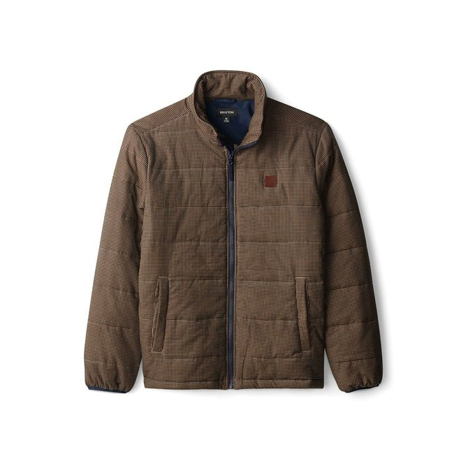 Cass Puffer Jacket in Navy/Khaki