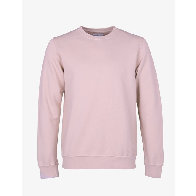 Classic Organic Crew in Faded Pink