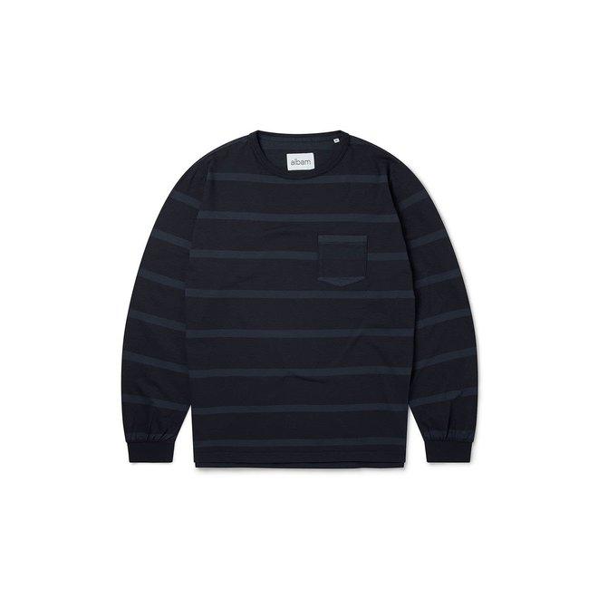 Whelan Long Sleeve T-Shirt in Navy