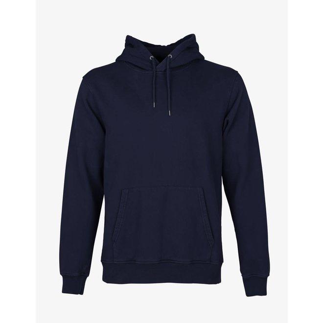 Classic Organic Hoodie in Navy Blue
