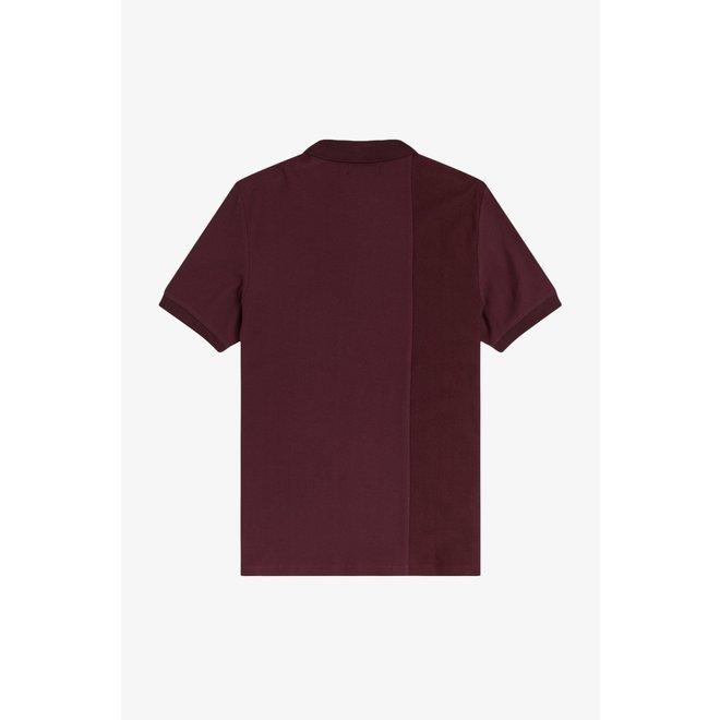 Tonal Stripe Polo Shirt in Mahogany
