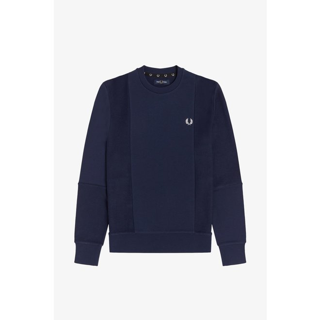 Tonal Panel Sweatshirt in Carbon Blue