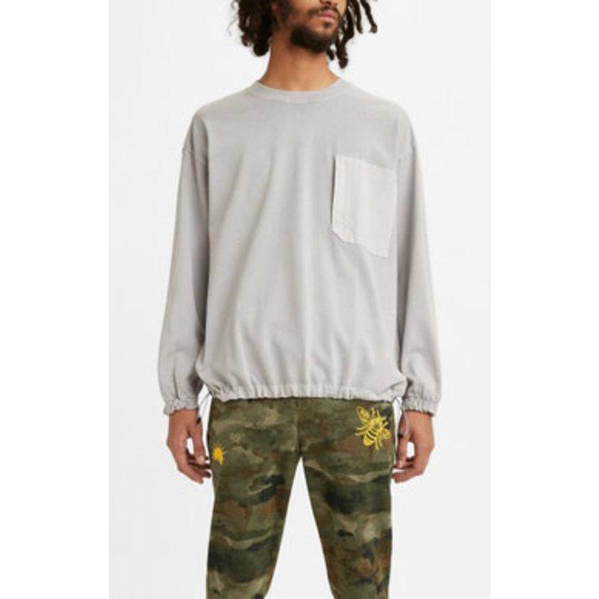 Utility Pocket Sweatshirt in High Rise